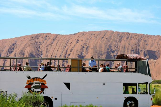 Guided Uluru Walk and Morning Tea on the Uluru Fork and View Double Decker Bus
