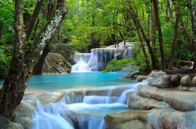 Private Tour to Erawan Waterfalls and Local Elephant Camp