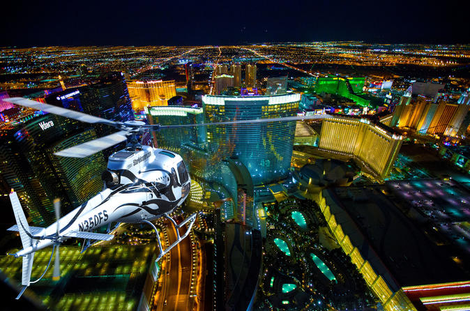 Las Vegas Nighttime Helicopter Ride with Optional Transport
