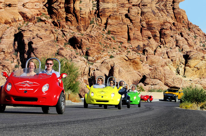 Scooter Car Tour of Red Rock Canyon with Transport from Las Vegas