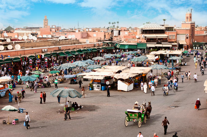 Marrakech Guided Day Trip from Casablanca: Djemaa el-Fna Square and Bahia Palace