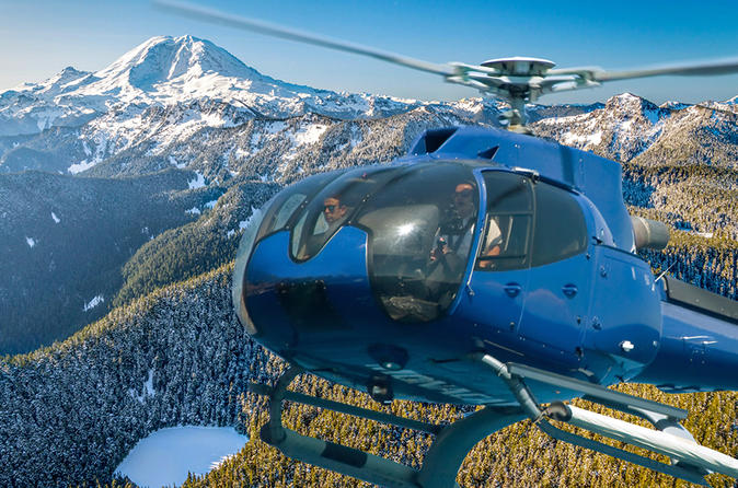 Private Mt Rainier Helicopter and Hiking Tour Combo