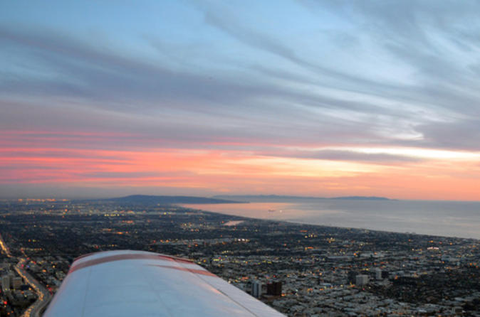 Los Angeles Air Tour over Santa Monica, Downtown LA and Hollywood