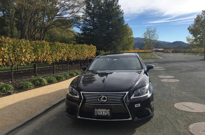 8 Hour Private San Francisco to Napa Valley Day Trip up to 3 people in a Lexus LS 460 Sedan