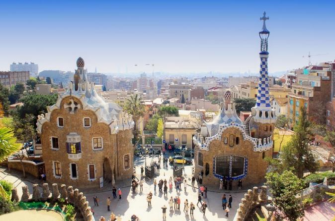 Park Guell Entrance with Casa Batllo and La Pedrera Panoramic Tour