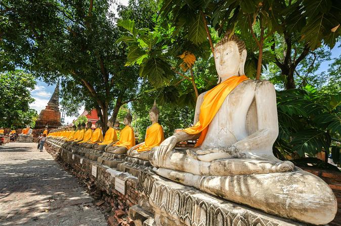 Full-Day Ayutthaya Tour with Grand Pearl Cruise, Including Lunch