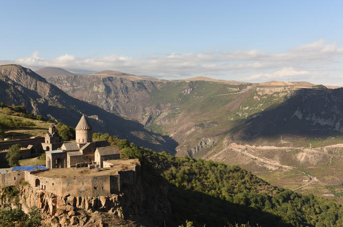 Fly over the monastery of Tatev, Goris and Khndzoresk