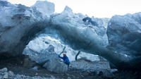 Scenic Walk by the Roots of the Vatnajokull Glacier from Holmur