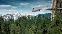 Capilano Suspension Bridge and Grouse Mountain from Vancouver