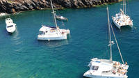 Half-Day Catamaran Cruise of Santorini with BBQ and Drinks