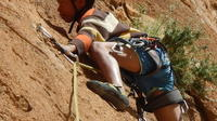 Rock climbing in Todra Gorges in Morocco