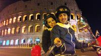 Night in Rome on a Vespa