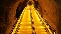 Veuve Clicquot's stairs to access its cellar cave