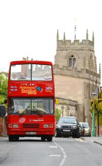 See the sights of Stratford-upon-Avon by hop-on hop-off bus