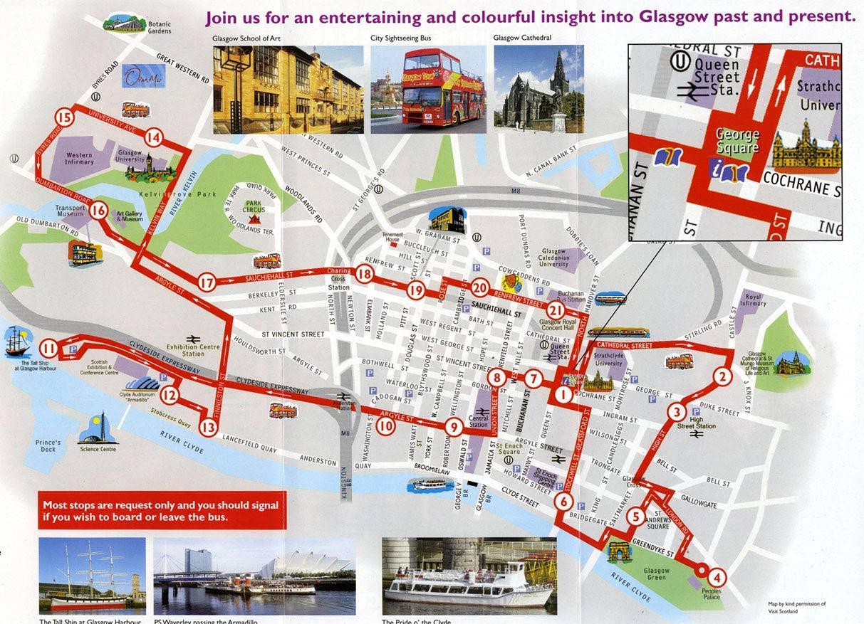 glasgow-circuit-touristique-carte