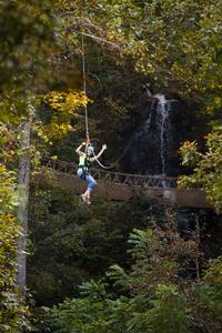 Waterfall Canopy Zip Line Tour plus Activity Pass at Foxfire Mountain Adventure Park