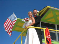 Civil Wedding Ceremony on a Miami Beach