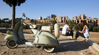 Vintage Vespa Tour with Gourmet Picnic Experience at Villa Borghese