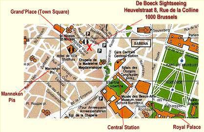 carte-localisation-visite-express-de-bruges-belgique