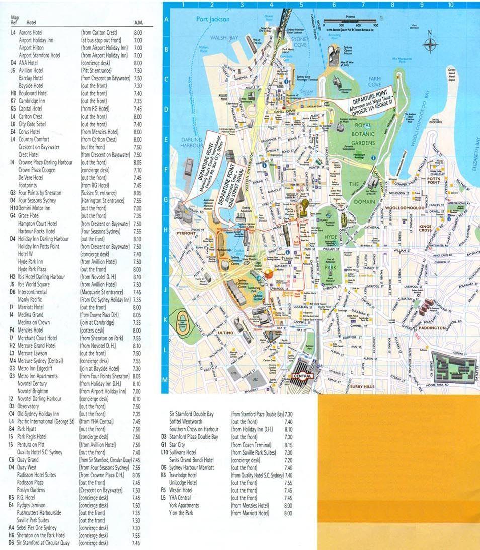 carte-excursion-a-manly-et-aux-plages-du-nord-sydney