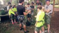 Rock Climbing and Rappelling at Palisades Park Alabama
