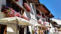 Winter Gruyeres Swiss countryside and chocolate