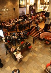 Admire the interior of Hard Rock Cafe Manchester*