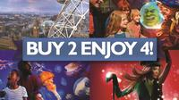 BIG London Attraction Ticket Including Madame Tussauds, SEA LIFE Aquarium, London Eye and Shreks Adventure! London