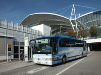 Travel from Munich to the airport in the comfort of the Lufthansa shuttle bus!*