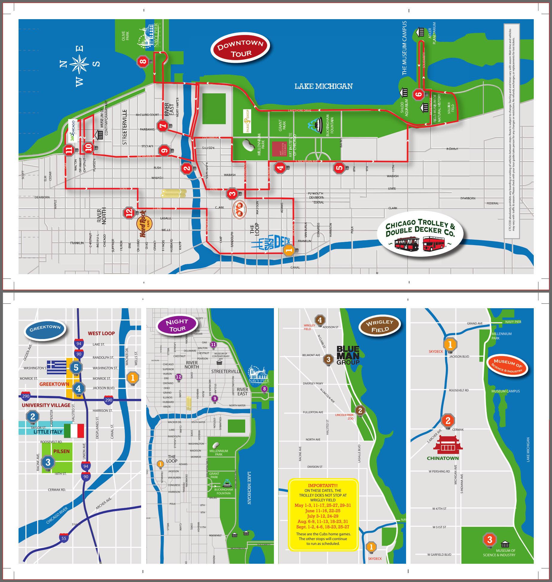 Chicago Hop On Hop Off Map Hop On Hop Off Chicago Map