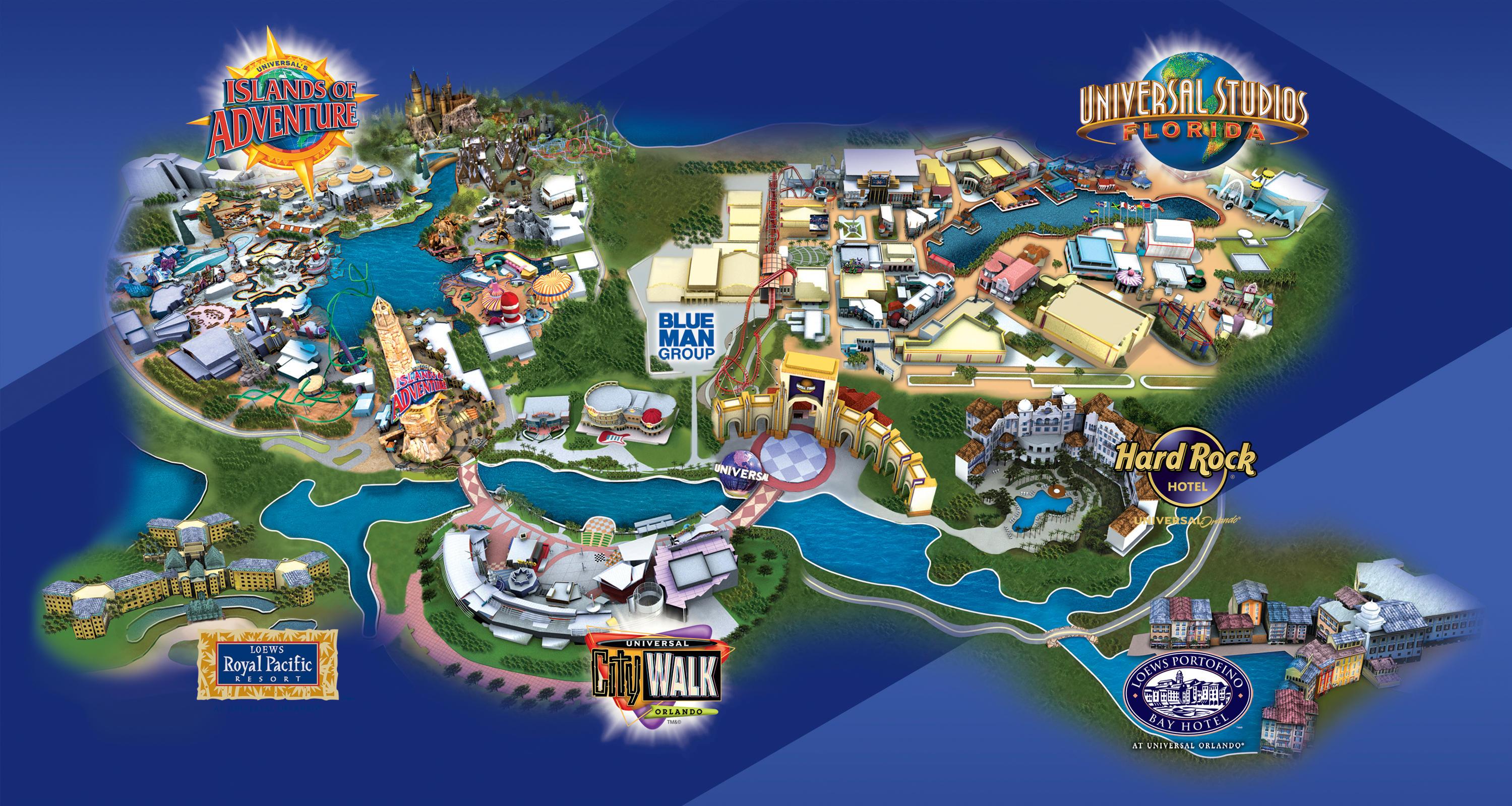 Universal Orlando Florida Map.Universal Orlando Hotels Map 2018 World S Best Hotels