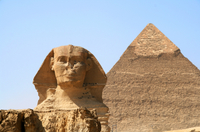 Pyramids and Sphinx of Giza, Cairo*