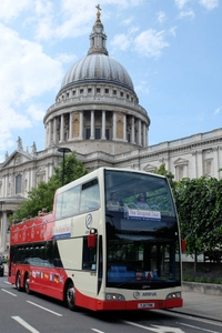 Marvel at St Paul's Cathedral on a hop-on hop-off London tour