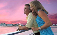 Enjoy a romantic sunset on your Evening Dance Cruise*