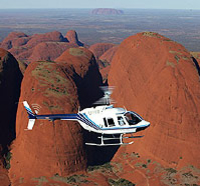 Take a helicopter flight over Kata Tjuta (The Olgas)*