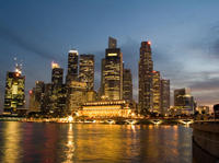 Private Tour: Singapore by Night Tour with Dinner along Singapore River