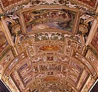 See incredible ceiling frescoes inside the Vatican Museums!