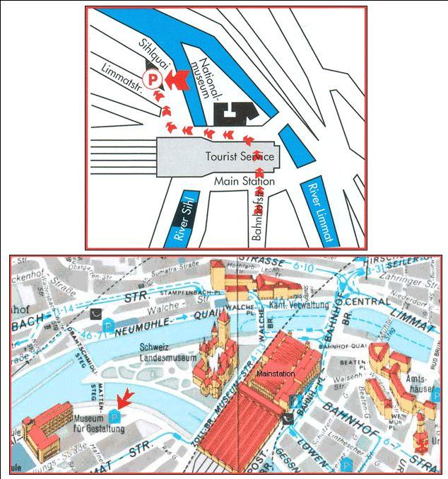 carte-des-sites-de-zurich-et-promenade-en-telepherique