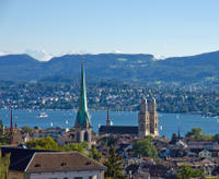 Zurich with the Alps*