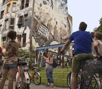 Modern Berlin Bike Tour Including Kreuzberg and Tempelhof Airport Private Car Transfers
