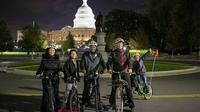 Private DC Monuments at Night Biking Tour Private Car Transfers