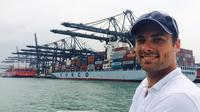 Hong Kong Container Port Boat Tour with BBQ Lunch Private Car Transfers