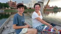 Sunrise or Sunset View of Taj Mahal on Yamuna River Boat Ride