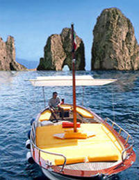 The Island of Capri by Boat Couple*