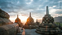Private Tour: Full Day Borobudur Sunrise Tour Including Horse Carriage Villages Tour with Prambanan and Mendut Temple