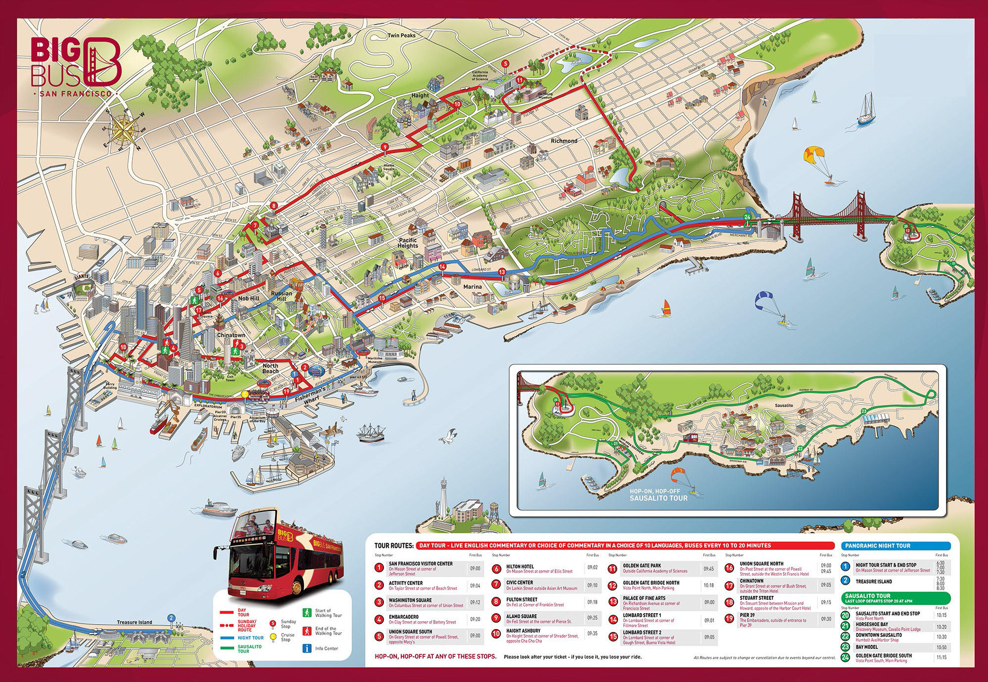 Big Bus San Francisco Map | Park Map