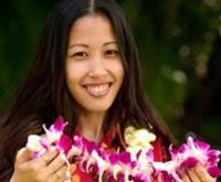 Traditional Lei Greeting on Maui