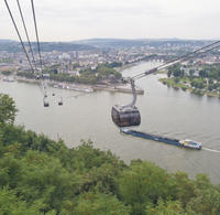 Koblenz Day Trip from Frankfurt: Ehrenbreitstein Fortress, Rhine Valley Cable Car Ride and German Dinner