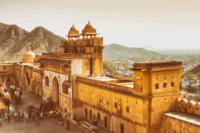 Private Tour: Amber Fort and Jal Mahal Including Elephant Ride