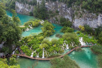 Split Super Saver: Diocletian's Palace Walking Tour plus Small-Group Plitvice Lakes Day Trip
